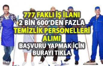 İŞKUR Temizlik personeli iş ilanları! İŞKUR tarafından 2.660 personel alımı yapılacaktır!
