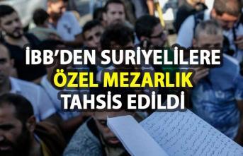 İstanbul Büyükşehir Belediyesi'nden (İBB) Suriyeli mezarlığı tahsisi