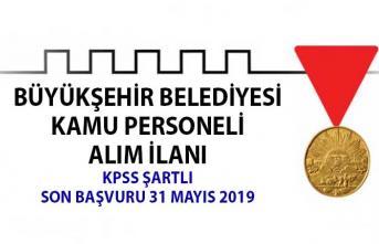 KPSS şartlı kamu personeli alımı! Kahramanmaraş Büyükşehir Belediyesi memur alım ilanı