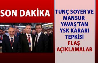 Mansur Yavaş ve Tunç Soyer'den YSK kararı sonrası ilk tepki açıklaması!..
