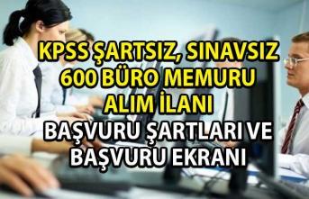 Memur alımı iş ilanları! İŞKUR aracılığı ile 600 büro memuru ve personel alımı yapılacaktır!