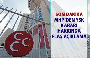 MHP'den YSK Kararı hakkında flaş açıklama! MHP başkanlık divanı gece yarısı toplantısı