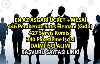 İŞKUR tarafından 446 Perakende Satış Elemanı (Gıda), 427 Servis Komisi, 340 Paketleme elemanı daimi işçi alımı yapılacaktır!