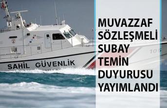 Sahil Güvenlik Komutanlığı Muvazzaf/Sözleşmeli Subay Temin Duyurusu Yayımladı!