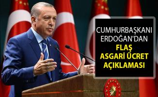 Son Dakika... Cumhurbaşkanı Erdoğan'dan Asgari Ücret Açıklaması