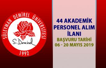 Süleyman Demirel Üniversitesi akademik personel alım ilanı! 44 öğretim üyesi personel alımı
