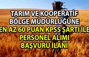 Tarım ve Kredi Bölge Müdürlüğü Kooperatif görevlisi ve Zİraat mühendisi Personel Alımı Başvuru Şartları!