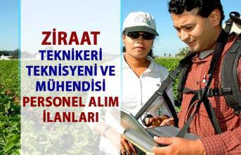 Ziraat mühendisi ve ziraat teknikeri personel alımı! İŞKUR'dan güncel memur alımı iş ilanları!