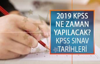 2019 Kamu Personeli Seçme Sınavı (KPSS) Ne Zaman Yapılacak? 2019 Yılı ÖSYM KPSS Sınav Tarihleri