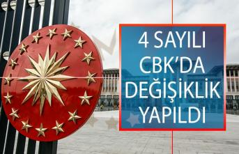 4 Sayılı Cumhurbaşkanlığı Kararnamesinde Yapılan Değişiklikler Resmi Gazete'de Yayımlandı!