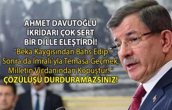 Ahmet Davutoğlu, İktidarın İmralı ile yaptığı görüşmelere değinerek AKP hükümetini eleştirdi!