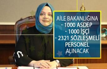 Aile, Çalışma Ve Sosyal Hizmetler Bakanlığına 1000 ASDEP Personeli 1000 İşçi Ve 2321 Sözleşmeli Personel Alımı Yapılacak