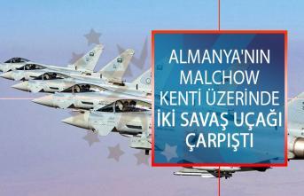Almanya'nın Malchow Kenti Üzerinde İki Savaş Uçağı Çarpıştı!