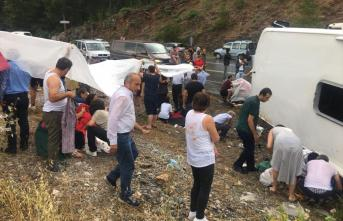 Antalya Akseki-Manavgat kara yolunda yolcu otobüsü kazası meydana geldi! Meydana gelen trafik kazasında çok sayıda kişi yaralandı!