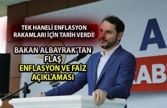 Bakan Albayrak'tan tek haneli enflasyon açıklaması! Berat Albayrak, tek haneli enflasyon ve faiz rakamları için tarih verdi!