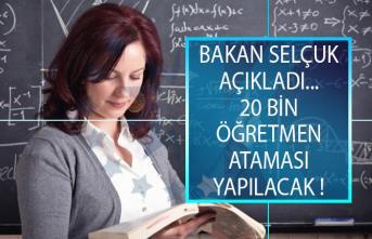 Bakan Ziya Selçuk Açıkladı: 2019 Yılı İçinde 20 Bin Sözleşmeli Öğretmen Ataması Yapılacak!