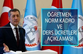 Bakan Ziya Selçuk'tan Öğretmen, Norm Kadro ve Ders Ücretleri Hakkında Açıklama!