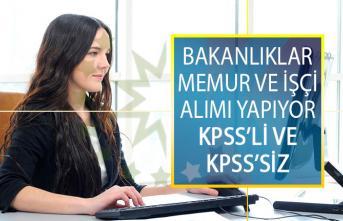 Bakanlıklar Memur ve İşçi Alımı İş İlanı Yayımladılar! KPSS'li ve KPSS'siz DPB Personel Alımı İlanları Ekranı
