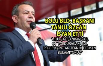 Bolu Belediye Başkanı Tanju Özcan belediye çalışanlarına isyan etti!