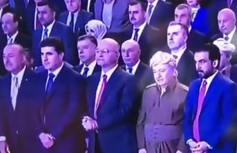 Çavuşoğlu, Kürdistan şehitleri için saygı duruşunda durdu!