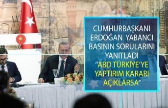 Cumhurbaşkanı Erdoğan olası ABD'nin Türkiye'ye yaptırım kararı açıklaması hakkında Dünya Basınının sorularını yanıtladı!