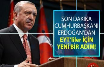 Cumhurbaşkanı Erdoğan'dan EYT'liler için yeni bir adım atıldı! Erdoğan EYT'lilere randevu verebileceğini söyledi!