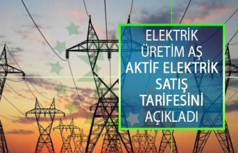 Elektrik Üretim AŞ Aktif Elektrik Satış Tarifesini Açıkladı!