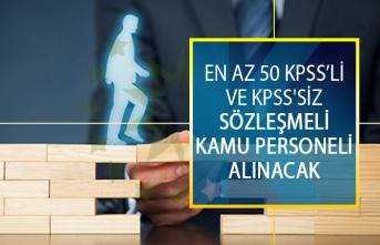 En Az 50 KPSS Puan Şartı ve KPSS'siz Sözleşmeli Kamu Personeli Alımı DPB İş İlanları!