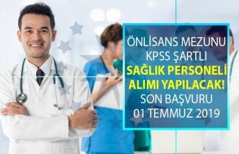 En az ön lisans mezunu KPSS puan sıralamasına göre sağlık personeli alımı yapılacak!