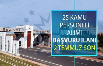 Erciyes Üniversitesi 25 kamu personeli alımı için yeni ilan yayınlandı! Akademik personel alımı başvuru şartları nelerdir