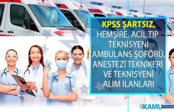 İŞKUR 26 Haziran 12 Temmuz tarihleri arasında KPSS şartsız en az lise ve önlisans mezunu sağlık personeli alımları yapıyor!