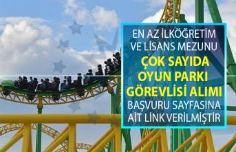 İŞKUR 26 Haziran'da yeni iş ilanları yayınladı! İŞKUR en az ilköğretim mezunu oyun 40 oyun parkı görevlisi alımı yapıyor!