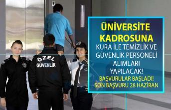 İŞKUR aracılığı ile Recep Tayyip Erdoğan Üniversitesi'ne KPSS şartsız en az ilkokul ve lise mezunu temizlik personeli ve güvenlik görevlisi alımı yapılacak! Personel alımı iş başvurusu şartları nelerdir?