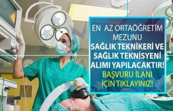 İŞKUR, İzmir, Antalya ve Düzce illerinden en az orta öğretim mezunu anestezi teknikeri ve teknisyeni alımı yapıyor!