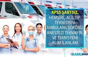 İŞKUR, KPSS şartsız en az lise ve önlisans mezunu sağlık personeli alımları yapıyor!