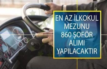 İŞKUR Tarafından En Az İlkokul Mezunu 860 Şoför Alımı Yapılacaktır! Şoför İş İlanları