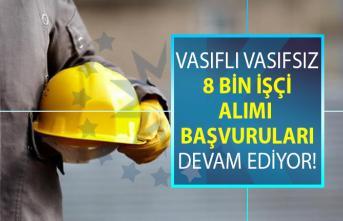 İŞKUR tarafından Türkiye geneli vasıflı vasıfsız daimi işçi personel alımı başvuruları devam ediyor!