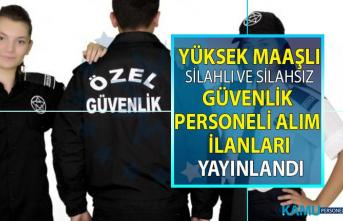 İŞKUR tarafından yüksek maaşlı kimlikli güvenlik görevlisi personeli alım ilanları yayınlandı!