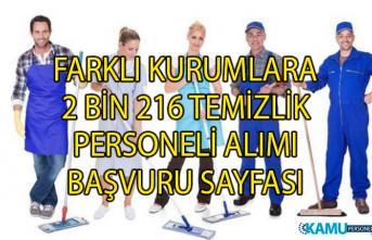 İŞKUR Temizlik personeli iş ilanları! İŞKUR tarafından 2 bin 216 personel alımı yapılacaktır!