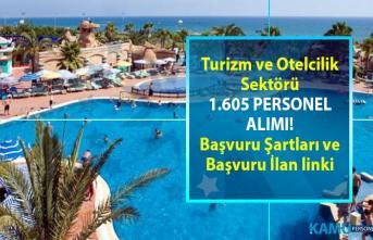 İŞKUR Turizm ve Otelcilik sektöründen KPSS şartsız 1.605 personel alımı yapacaktır!