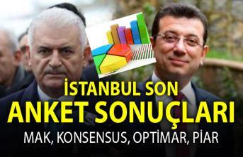 İstanbul son anket sonuçları: MAK, Konsensus, Optimar ve Piar anket sonuçlarında Ekrem İmamoğlu ve Binali Yıldırım