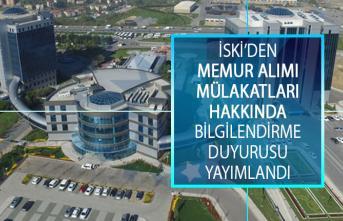 İstanbul Su ve Kanalizasyon İdaresinden (İSKİ) Memur Alımı Mülakatları Hakkında Bilgilendirme Duyurusu