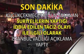 İstanbul Valiliğinden Küçükçekmece'de yaşanan taciz iddiaları hakkında açıklama geldi!..
