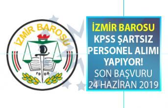 İzmir Barosu 25 yaşından gün almış lisans mezunu personel alımı için yeni iş ilanı yayınladı!