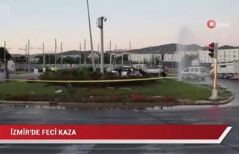 İzmir'in Balçova ilçesinde ölümlü trafik kazası! 2 kişi hayatını kaybetti