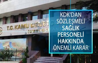 Kamu Denetçiliği Kurumundan (KDK) Sözleşmeli Sağlık Personellerini İlgilendiren Önemli Karar!