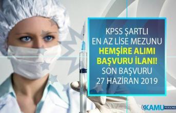 Kamu kurumuna 27 Haziran'a kadar KPSS şartlı 18 sağlık personeli alımı yapılacak!