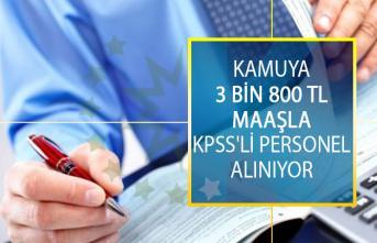 Kamuya 3 Bin 800 TL Maaşla KPSS'li Personel Alımı İçin DPB'den Yeni İlan Yayımlandı!