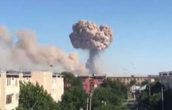 Kazakistan'da Askeri Mühimmat Deposunda Patlama! 11 Yaralı Var! Kazakistan Arys Kentinde Patlama