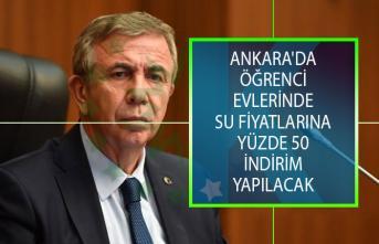 Mansur Yavaş Duyurdu! Ankara'da Öğrenci Evlerinde Su Fiyatlarına Yüzde 50 İndirim Yapılacak!